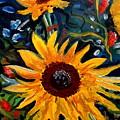 Golden Sunflower Burst by Elizabeth Robinette Tyndall