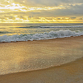 Golden Sunlight On Peaceful Early Morning Beach  by Marianne Campolongo