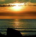 Golden Sunset At The Beach IIi by Mariola Bitner