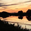 Golden Sunset Reflection by Carol Groenen
