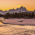 Golden Teton Sunset by Yeates Photography