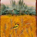 Goldfinch In The Wheat by Carolyn Doe