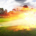 Golf Ball On Fire by Jorgo Photography - Wall Art Gallery