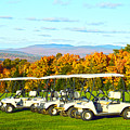 Golf Carts On Vermont Golf Course by Catherine Sherman