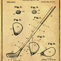 Golf Club Patent 1910 Sepia by Bill Cannon