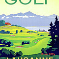 Golf, Lausanne, Switzerland, Travel Poster by Long Shot