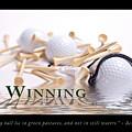 Golf Motivational Poster by Tom Mc Nemar