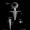 Golf Tee Patent 1899 Black by Bill Cannon