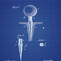 Golf Tee Patent 1899 Blueprint by Bill Cannon