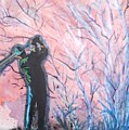 Golfer In The Pink For Par II by Anne-Elizabeth Whiteway
