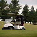 Golfing Golf Cart 01 by Thomas Woolworth