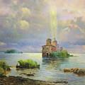 Golgotha Fantasy Impressionism by Isabella Howard