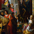 Daniel And Cyrus Before The Idol Bel by Bartholomaus Strobel