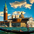 Gondola And San Giorgio Maggiore by Harry Spitz