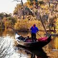 Gondola In City Park Lagoon New Orleans by Kathleen K Parker