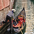 Gondola In Venice by Linda Pulvermacher