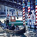Gondola In Venice On Grand Canal by Michael Henderson