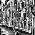 Gondola Ride In Venice by Greg Sharpe