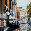 Gondola Ride On Venice Italy Canal by Jim Horton