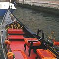 Gondola Rossa Venice Italy by Italian Art
