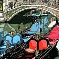 Gondolas Fresco  by Mindy Newman
