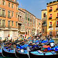 Gondolas In The Square by Peter Tellone