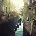 Gondolas In Venice Against Sun by Marco Misuri