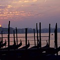 Gondolas In Venice At Sunrise by Michael Henderson