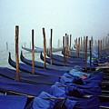 Gondolas In Venice In The Morning by Michael Henderson