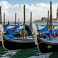 Gondolas On The Grand Canal by Bob VonDrachek
