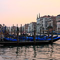 Gondolas On The Grand Canal In Venice In The Morning by Michael Henderson