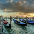 Gondolas Parked For The Evening by Mike Houghton BlueMaxPhotography