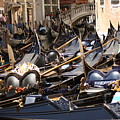 Gondolas Parked In Venice II by Michael Henderson