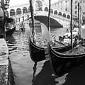 Gondole At Rialto Bridge by Marco Missiaja