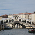 Gondolier Approching The Rialto by Angela  Rose