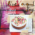 Good Day Donut- Art By Linda Woods by Linda Woods