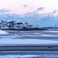 Good Harbor Beach And Thacher Island Covered In Snow Gloucester Ma by Toby McGuire