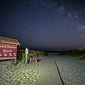 Good Harbor Beach Sign Under The Stars And Milky Way by Toby McGuire