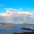 Good Harbor Clouds And Sun by Harriet Harding