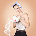 Good Looking Female Pouring Hot Coffee Love by Jorgo Photography - Wall Art Gallery