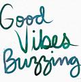 Good Vibes Buzzing- Art By Linda Woods by Linda Woods