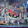 Goodnight Tower Bridge by Laura Hol Art