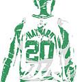 Gordon Hayward Boston Celtics Pixel Art T Shirt 5 by Joe Hamilton