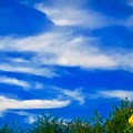 Gorgeous Blue Sky With Clouds by Debra Lynch