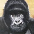 Gorilla On Wood by Debbie LaFrance