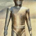 Gort From The Day The Earth Stood Still by Mary Bassett
