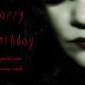Goth Birthday Card by Lisa Knechtel
