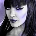 Goth Portrait Purple by Alicia Hollinger