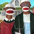 Gothic American Sock Monkeys by Randy Burns