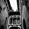 Gothic Bridge In The Gothic Quarter Of Barcelona by Abel Santos
